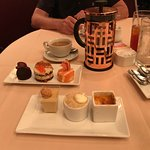The Desserts with Franch pressed coffee