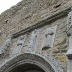 The detailing of the stonework of the original cathedral