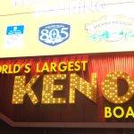 Keno board outside