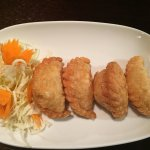 Vegetarian curry puffs - hot and fresh