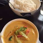 Vegetarian Paneang curry. Tasty.