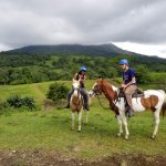 Horse Back Riding in view of Arsenal Volcano
