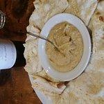 Hummus and pita. The pita was amazing