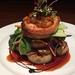 Delicious pork belly from our evening menu.