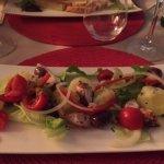 entrée salade de poulpe