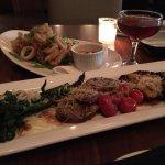 Grilled vegatables and calamari