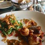 Bouillabaisse and pan seared scallops