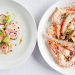 hiramasa kingfish & chargrilled king prawns