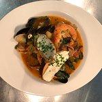 Stunning Spanish fish stew with chorizo!