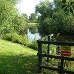 River Bordering Garden
