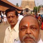 in front of gopuram