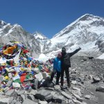 Everest Base Camp with Dan (Everest is the 'small' peak in the middle of the picture).