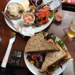 Cheddar Cheese Ploughman's Lunch and Bacon Sandwich - Excellent !