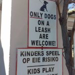 This is the sign at the door to Die Plaaskombuis.