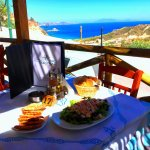 Visit us - Delicious traditional food combined with a delicious view.