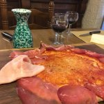 Pizza with Italian Deli Products.