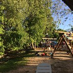 Gorgeous spot by the river to sit & relax or let the kids play on the playground while you eat