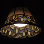 Tiffany celing lamp in restaurant.