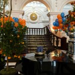 Hotel lobby (King's day celebration)