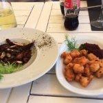 Grilled octopus & Fried shrimps