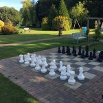 Lawns and giant chess set