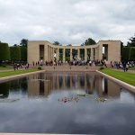 Looking toward the memorial and entrance