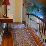 upstairs hall, beautiful floors/wall covering