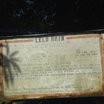 The sign at the entrance of Lelu Ruin (It is difficult to find the entrance)