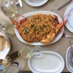 fresh lobster pasta for lunch
