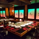 The teppanyaki tables