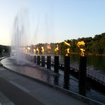 water display from restaurant patio