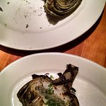 Grill artichokes - highlight of the meal