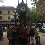 Gastown steam clock and our tour group