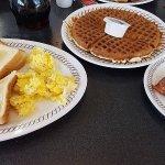 Breakfast decent, waffle... not so good.
