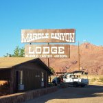 Fresh painted sign for Marble Canyon Lodge!