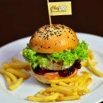 Vege burger s kozím syrom
