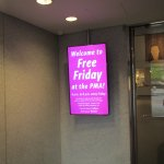 Free Friday entrance sign