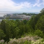 """View from the top of the bluff. Our driver stopped often to allow such """"photo opps""""."""