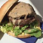 Haggis & Peppercorn Sauce burger