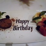 Happy Birthday is in Chocolate...nice touch!