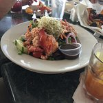 A delicious lobster salad full of tender lobster meat