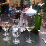 Bottle of Sancerre at French restaurant