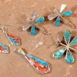 Native American inlaid jewelry by Jimmy Poyer