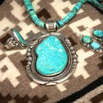 Beautiful natural turquoise jewelry by Navajo jeweler Jeanette Dale