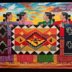 Navajo artist Leland Holiday painting on canvas