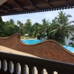 Photos of Raviz hotel including cultural performance, pool and the view from our room.