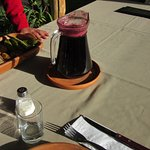 Drink of chicha made from purple corn.