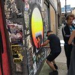 Street artist in action!