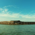 A beautiful view of Fort Sumter from the boat