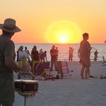 Sunset at the 'Drum Circle' in neighboring town is a fun and interesting beach experience.